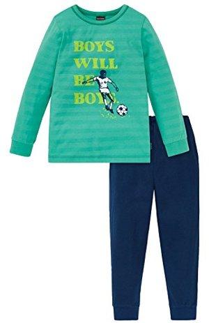 Fußball lang Zweiteiliger Schlafanzug Grün