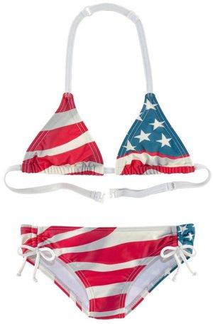 Triangel-Bikini Design der USA-Flagge