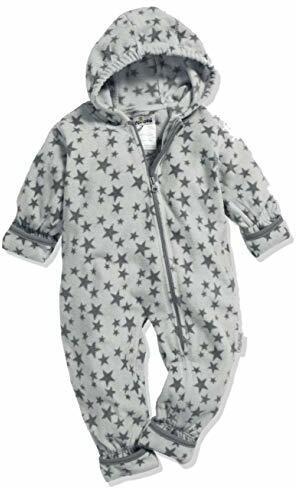 Fleece-Overall Sterne Schneeanzug Grau