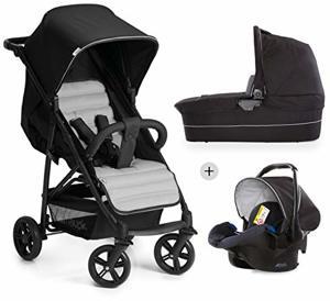 Kombi Kinderwagen Rapid Plus Trio Babyschale Kinderautositz Gruppe Isofix Base Klein Zusammenklappbar Leicht Geburt Caviar Silber
