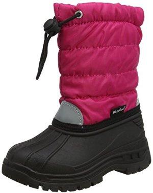 Gefütterte Winterstiefel Warme Schneestiefel mit Innenfutter pink