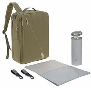 Wickelrucksack mit Wickelunterlage Kinderwagenbefestigung Flaschenwärmer Wasserabweisend Nachhaltig Produziert Label Tidy Talent Backpack