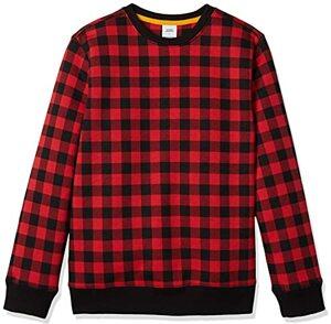 Essentials Sweatshirt mit Rundhalsausschnitt Schottenkaro