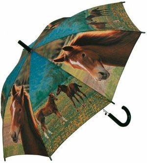 Stockregenschirm Jugend Pferde