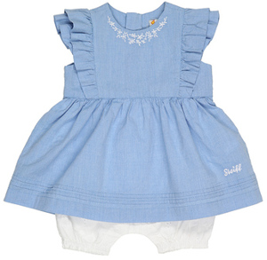 Spieler LITTLE DRESS mit Rüschen Light Denim