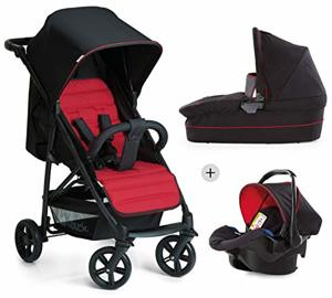 Kombi Kinderwagen Rapid Plus Trio Babyschale Kinderautositz Gruppe Isofix Base Klein Zusammenklappbar Leicht Geburt Caviar Tango