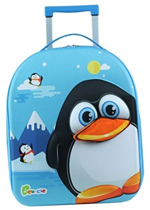 Bouncie mit 3D-Pinguin-Motiv Reisetrolley Kindergepäck