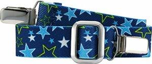 Gürtel mit Clips Sterne Elastisch blau