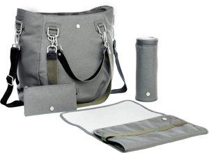 Wickeltasche mit Wickelunterlage Label Mix Match Bag Anthracite