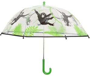 Design Regenschirm Transparent Monkey