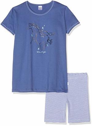 Pferdewelt kurz Zweiteiliger Schlafanzug Blau