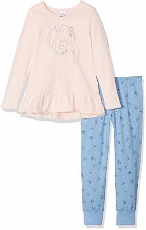 Pyjama Long Zweiteiliger Schlafanzug Pink Cream
