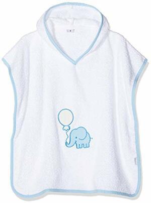 Poncho Elefant Bademantel Bleu One Size