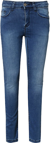 Jeanshose Skinny fit Bundweite slim Denim