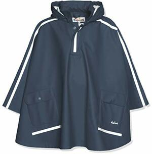 Regencape Leichter Regenponcho mit Extra Langem Rücken Abnehmbarer Kapuze