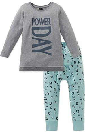 lang Zweiteiliger Schlafanzug Grau
