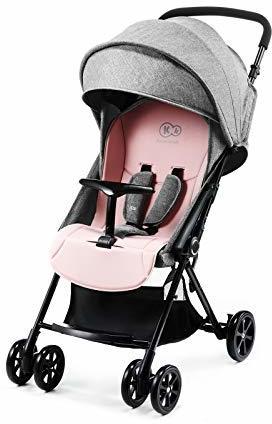 Kinderkraft Kinderwagen LITE Liegebuggy Sportwagen Drehbare Vorderräder Verstellbarer Griff Stufenlose Einstellung Rückenlehne Schnelles Zusammenklappen