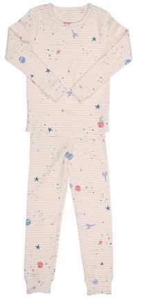 Schlafanzug SLEEPWELL GALAXY 2-teilig Gestreift Creme