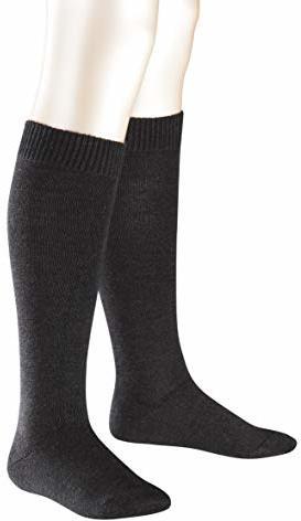 Kniestrümpfe Comfort Wool Merinowoll- Baumwollmischung Paar Anthracite Melange