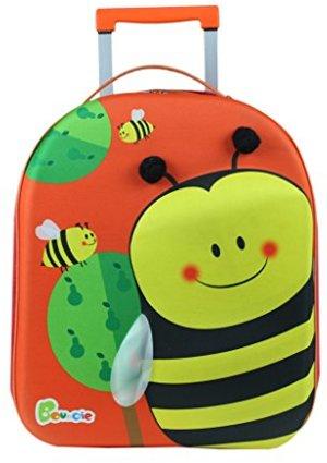 Bouncie mit 3D-Bienen-Motiv Reise-Trolley Kindergepäck
