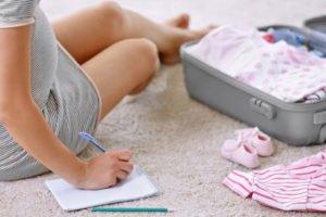 Kliniktasche für die Geburt packen