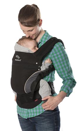 Beispiel Babytrage mit Kopfstütze und M-Position