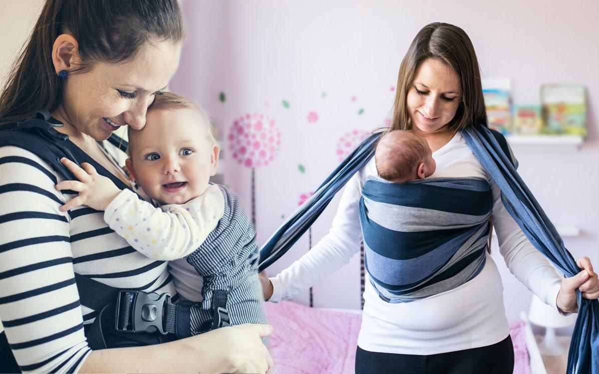 Tragetuch oder Babytrage