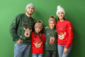 Weihnachtspullover Kinder Familie